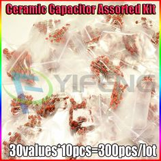 New Arrival x 50 Values Ceramic Capacitor Assorted kit Assortment Set Fixed capacitors Electronic Kits, Cool Electronics, Cool Things To Buy, Link, Watch, Discus, Cool Stuff To Buy, Clock, Electronics Gadgets