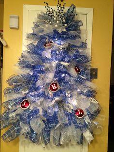 Blue Tree Wreath