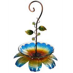 Floral Vine Bird Feeder Blue www.aperfectpresent.com