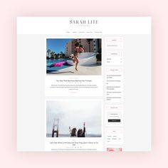 Sarah Lite - Free Lifestyle WordPress Theme Blog