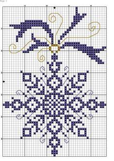 new Ideas for crochet christmas snowflakes pattern cross stitch Cross Stitch Christmas Ornaments, Xmas Cross Stitch, Cross Stitching, Cross Stitch Embroidery, Embroidery Patterns, Christmas Tree, Christmas Snowflakes, Crochet Christmas, Hand Embroidery