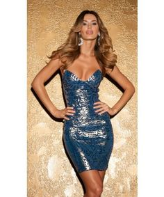 Holt Jenna Dress in Metallic Blue Sexy Dresses, Formal Dresses, Metallic Blue, Strapless Dress Formal, White Dress, Bodycon Dress, Boutique, Outfits, Fashion