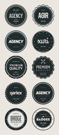 Vector Free Badges by Wassim Awadallah, via Behance Web Design, Icon Design, Logo Design, Graphic Design, Flat Design, Retro Vector, Retro Logos, Free Badges, Free Vector Graphics