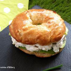 Bagel maison façon salade de crabe