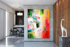 Large Abstract Artwork,Large Abstract Painting,unique painting art,xl abstract painting,colorful artwork,textured painting FY0062