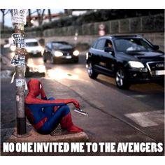 Haha poor spidey :(