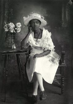 """A Southern Belle"" - 1920/30 by Richard Samuel Roberts. More in article at link. He worked in Columbia, South Carolina. Compare to a crop of same shot at   http://www.artistdds.com/home-2/"