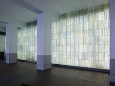 "love love love love love love love this glass.  Architectural art ""Lightfall"" at building entrance to William J. Nealon Federal Building, Scranton, Pennsylvania. photo by carol highsmith."