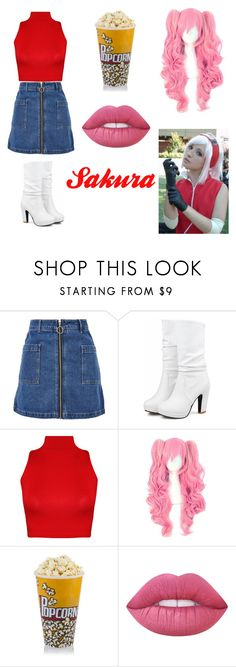 """""""Sakura"""" by lilibessa on Polyvore featuring Topshop, WearAll and Lime Crime"""