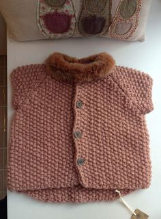 Jacket baby - found the wool to make that collar...