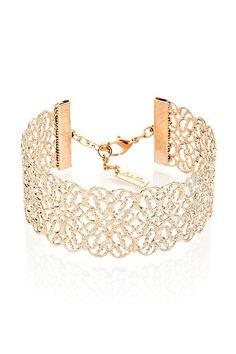 Filigrane Armband Rose Goldarmband Manschette von LuluMayJewelry