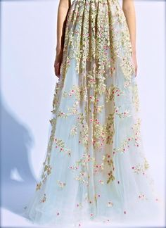 Valentino floral maxi skirt