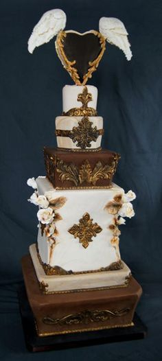 Gorgeous Wings of Love cake by Crazy Cakes http://www.crazycakes.com
