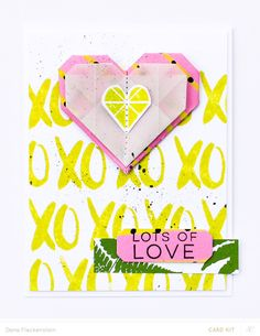 Lots of Love Origami Card by pixnglue at @studio_calico