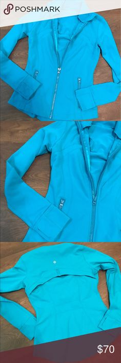 Lululemon Define Yoga Jacket, Size 6 Lululemon athletica Yoga Jacket, sky blue, size 6, no rip tag, but otherwise new condition. lululemon athletica Jackets & Coats Utility Jackets