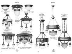 Vintage Kronleuchter - Jugendstil Lampen Katalog - digital highend - ein Designerstück von sternreisende00 bei DaWanda
