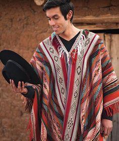 Sonqo Master Weaver Men's Baby Alpaca Poncho