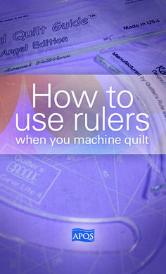 Ruler work is a quick way to make a quilt spectacular but it can be intimidating. The most important thing to remember is safety. The last thing you want is to hear the heart sickening sound of the hopping foot crunching on Plexiglas while using your APQS longarm quilting machine. Read the rest of our tips.... xxx