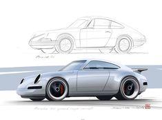 Another one in my speed coupe series,Iconic 911. #porsche #carrera #porsche911 #speedcoupe #cardesignsketch #cardesign.ru #speedsketch…