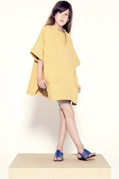 Mustard shift.  Talc #girls #fashion