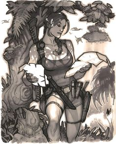 'Golden Age' Lara Croft commission from years ago. #fromthevault pic.twitter.com/NKEhVmZURQ
