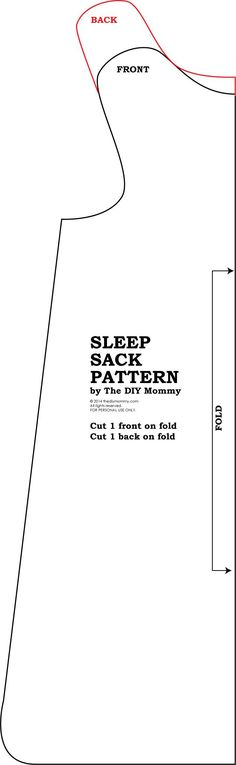 Free Baby Sleep Sack Pattern.  Genius!  This would be pretty easy to sew.  Plus you can pick whatever fabrics you want & make the zipper upside-down for easy changing.
