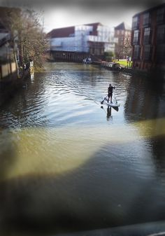 Stand-up Paddle Surfing in The River Medway