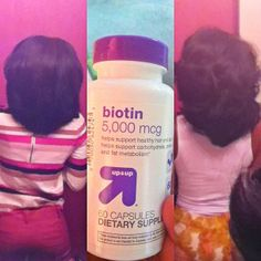 """""""Hey Bettyysss! It's been awhile so I figured I'd share some hair growth inspiration with you guys. On 3/30/13 I got what was supposed to be a trim & ended up with a cut. On that same day I purchased the biotin you see in the picture from target & I am already starting to see results! On the left my hair was completely straight, & on the right it is curled so I imagine it should be a little longer. The picture on the right was taken today 4/13/13. Try it out & let me know what you guys think!"""""""