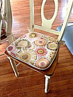 New chair cushions for the kitchen table.