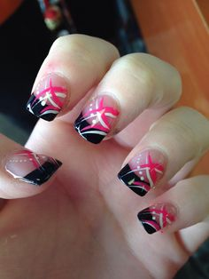 Free hand gel nail designs! Simple but perfect.