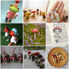 Friday Funspiration: mushrooms by merwing✿little dear