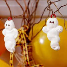 No Tricks-Just Halloween Treats    White Meringue Ghosts   MyRecipes.com