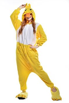 Halloween Duck hoodies Adult Jumpsuits Anime Pyjamas Onesie Costume (XL, Duck) - Brought to you by Avarsha.com