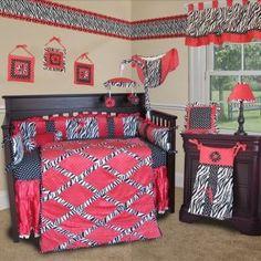 Baby Boom I Luv Zebra Crib Bedding Blue