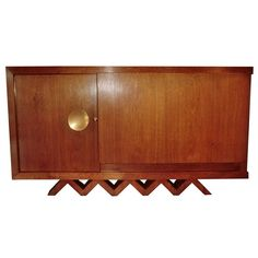 1950's Bar Cabinet in the Style of Jean Royere