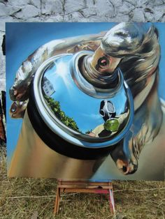 Realistic spray can painting by Maclaim