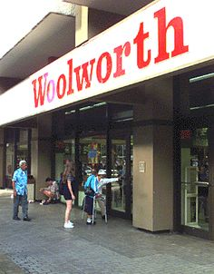Long gone Woolworth store on Fort Street Mall, Honolulu