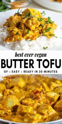 "Simple vegan butter ""chicken"" Simple vegan + gluten free recipe Recipe for Indian meatballs with creamy sauce Paleo) Samosa, easily vegetable .Recipe for Indian meatballs with creamy sauce Paleo) Samosa, simple vegetable starter Vegan Dinners, Healthy Dinner Recipes, Vegetarian Recipes, Plant Based Dinner Recipes, Easy Vegan Meals, Gluten Free Vegan Recipes Dinner, Easy Vegan Dinner, Vegetarian Appetizers, Crock Pot Recipes"