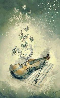 21 Ideas For Art Painting Music Violin Violin Drawing, Violin Painting, Violin Art, Violin Sheet Music, Music Music, Cello, Musical Instruments Drawing, Homemade Musical Instruments, Music Instruments