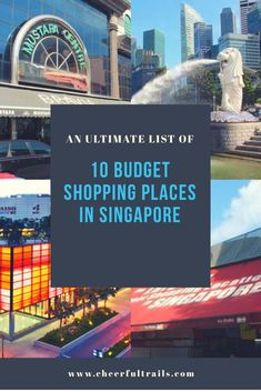 Planning a trip or looking for budget shopping places in Singapore? Here's an ultimate list of best budget shopping places in Singapore to shop and explore. Singapore Guide, Singapore Travel Tips, Singapore Vacation, Singapore Itinerary, Malaysia Travel, Orchard Road Singapore, Shopping Places, China Travel, Italy Travel