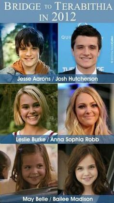 If ONLY they could make a sequel where Leslie came back to life with the magic of Terabithia...and Josh and 'Phia shared a few dozen kisses in it...