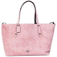 Reversible Large Market Tote (1.085 BRL) ❤ liked on Polyvore featuring bags, handbags, tote bags, pink, reversible leather tote bag, leather handbags, pink leather tote, pink tote bags and leather totes