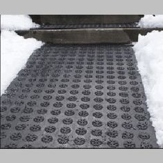 The Industrial ice melting walkway mat can be used anywhere like on Wheelchair Ramps,on driveways (Yes, the heated walkway mat is durable enough to withstand the heavy load of cars), giving you access to outdoor pools, spas, saunas or BBQ in the harshest of winter
