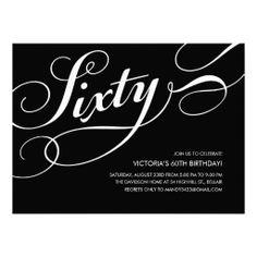 Elegant 60th birthday party sparkles gold invitation milestone black and white 60th birthday invitations filmwisefo