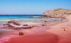 Elafonisi beach in Crete Island (Chania) ! Pink Sand Beach, The Beach, Santorini, Places To Travel, Places To See, Crete Beaches, Balos Beach, Crete Island, Crete Greece