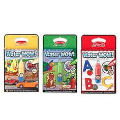 Melissa & Doug On the Go Water Wow! Water Reveal Pads Set: Vehicles, Animals, Alphabet
