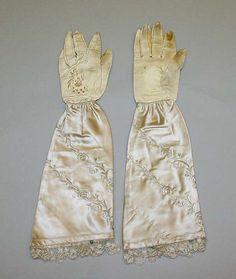 Gloves Date: 1839 Culture: American Medium: leather