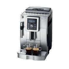DeLonghi ECAM 23420 SB Kaffee-Vollautomat Cappuccino l, Dampfdüse) silber-schwarz Italian Espresso Machine, Machine Expresso, Espresso Machine Reviews, Automatic Espresso Machine, Best Espresso Machine, Cappuccino Maker, Cappuccino Coffee, Espresso Maker, Black
