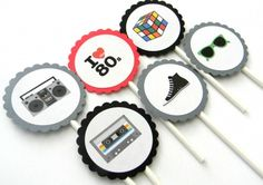 I want to have an 80's party! http://www.artfire.com/ext/shop/product_view/whimsicaloccasions/4492056/Awesome_80s_Cupcake_Toppers/Seasonal/Birthdays/Decoration