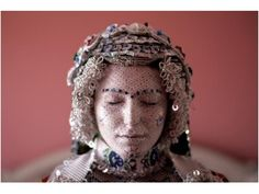 Traditional bridal makeup from Kosova